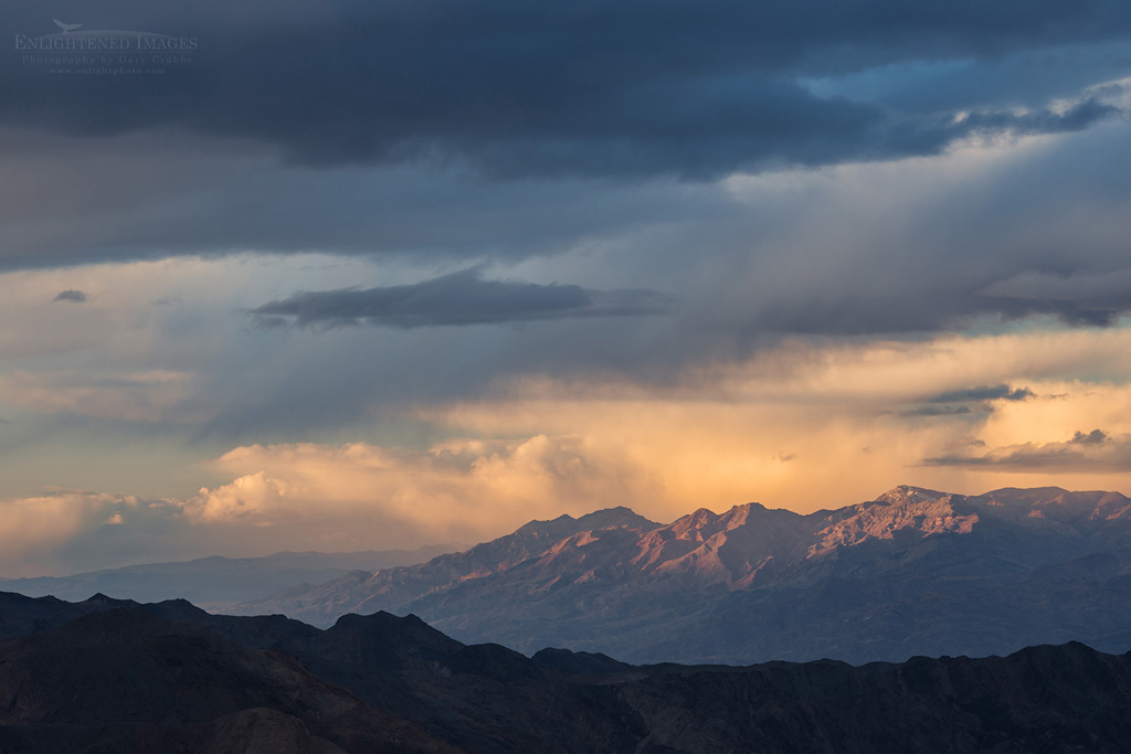 Photo: Storm Clouds over mountains seen from Aguereberry Point, Death Valley National Park, California