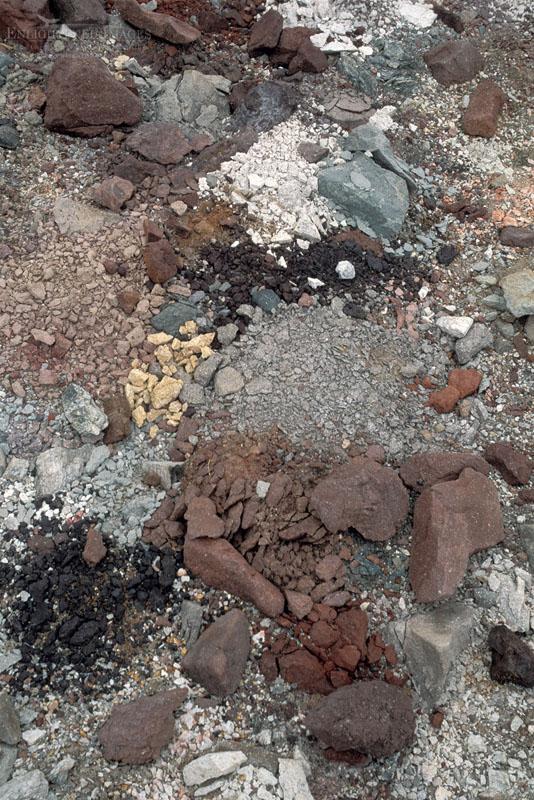 Photo: Mechanical weathering broken rocks near Badwater, Death Valley National Park, California