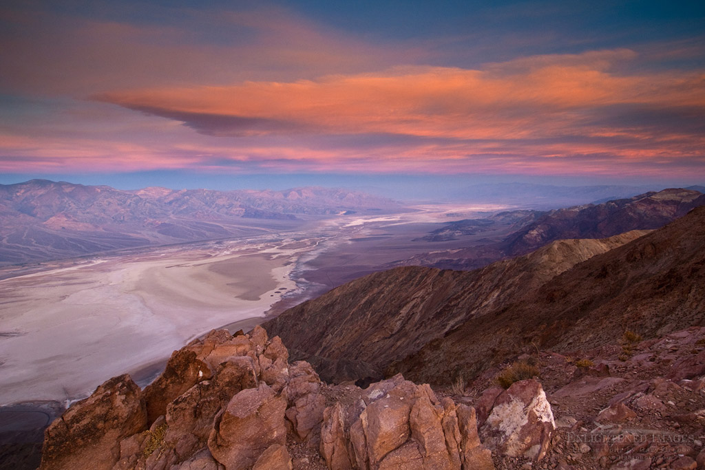 Photo: Morning light and clouds over saltpan at Badwater Basin,  from Dante's View, Death Valley National Park, California