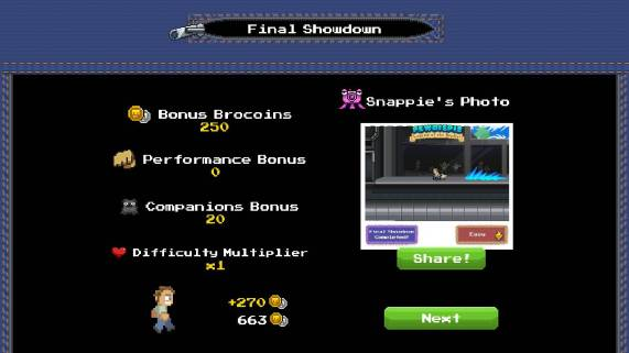 PewDiePie: Legend of Brofist, final result screen