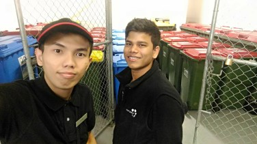 With Abdullah, Cleaner at WP6