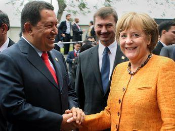 Chávez y Merkel