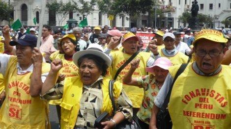Fonavistas siguen en pie de lucha