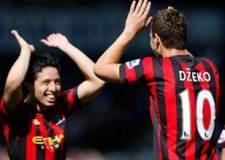 Dzeko marcó el único gol en el triunfo del Manchester City
