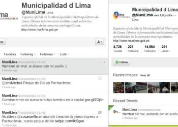 Error de la Municipalidad de Lima en Twitter
