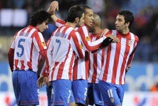 Atlético de Madrid derrotó al Lazio con gol de Godín