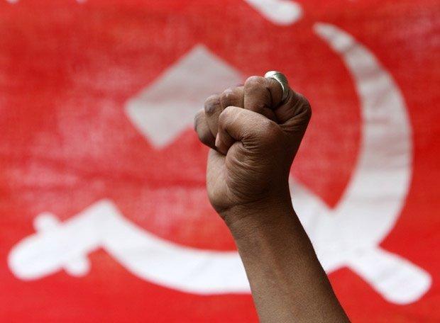 Bandera con la hoz y el martillo (Referencial)