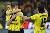 Borussia Dortmund celebra el triunfo por 3-1 ante el Hannover 96