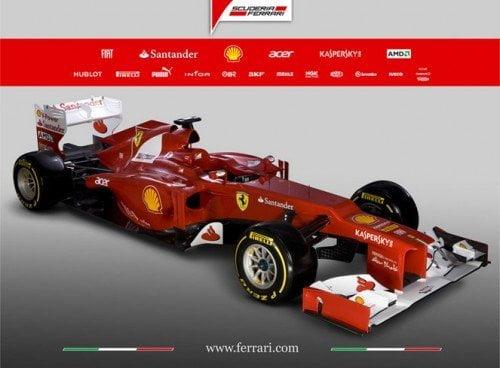 Ferrari presentó su monoplaza para la competición de Fórmula 1 del 2012