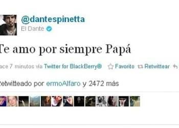 Twitter de Dante Spinetta
