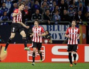 Bilbao fue el mejor en la ida de los cuartos de final de la Europa League al vencer 4-2 al Schalke 04