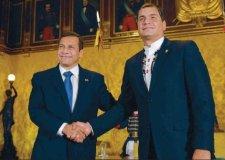 Ollanta Humala y Rafael Correa