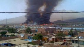 Incendio en Ancón / @HPantaleon27