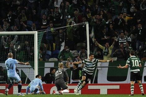 Sporting de Lisboa ganó 1-0 al Manchester City en el encuentro de ida de la Europa League