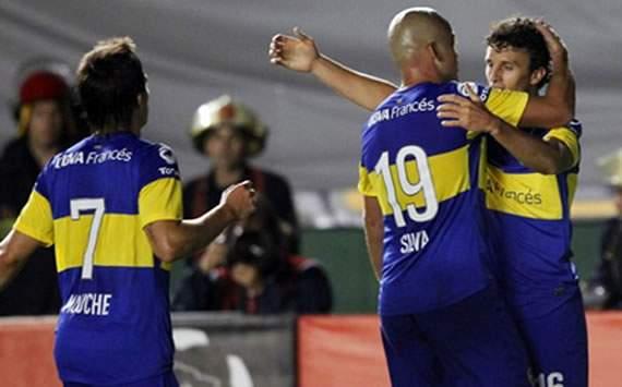 Sánchez Miño anota el 2-0 final. Boca ganó al Fluminense y ambos clasificaron a octavos de la Copa