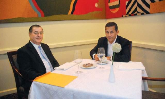 Premier Óscar Valdés y Ollanta Humala (Cortesía, La República)