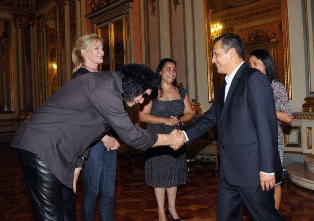 Gene Simmons visita al presidente Humala
