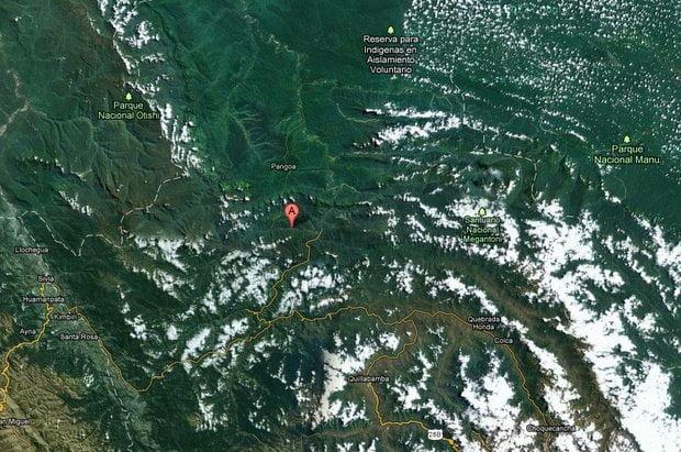 Mapa de ubicación de La Convención - Cusco