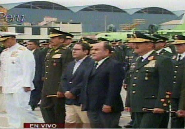 Ministros de Defensa Alberto Otárola y del Interior Daniel Lozada