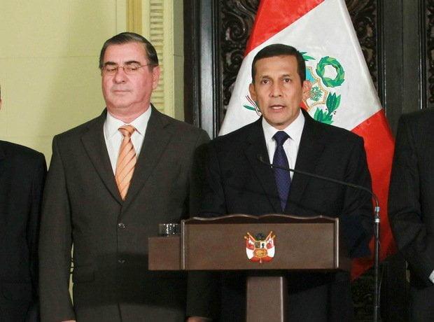Primer Ministro Óscar Valdés y Ollanta Humala