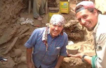 Primeros hallazgos del 2012 en Pachacamac (Difusión)