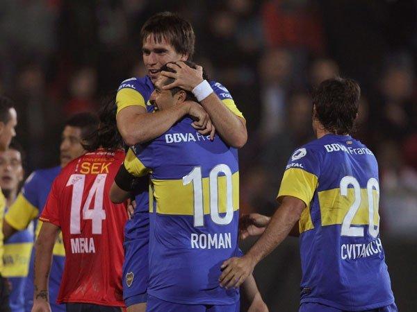 Boca celebra su clasificación a los cuartos de final de la Copa Libertadores