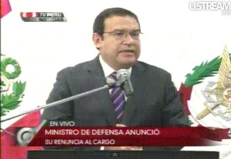 Ministro Alberto Otárola renunció