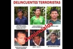 Terroristas buscados