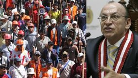 Fiscal José Antonio Peláez pone orden ante protestas