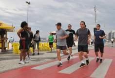 Ollanta Humala inició sus actividades en Brasil trotando (Foto: Presidencia de la República)