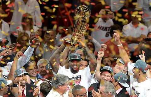Miami Heat celebra su segundo título de la NBA