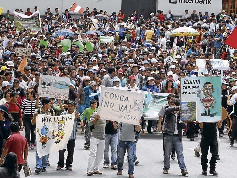 Protestas sociales en el Perú