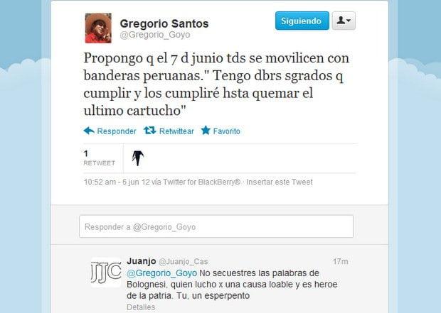 Tuit de Gregorio Santos