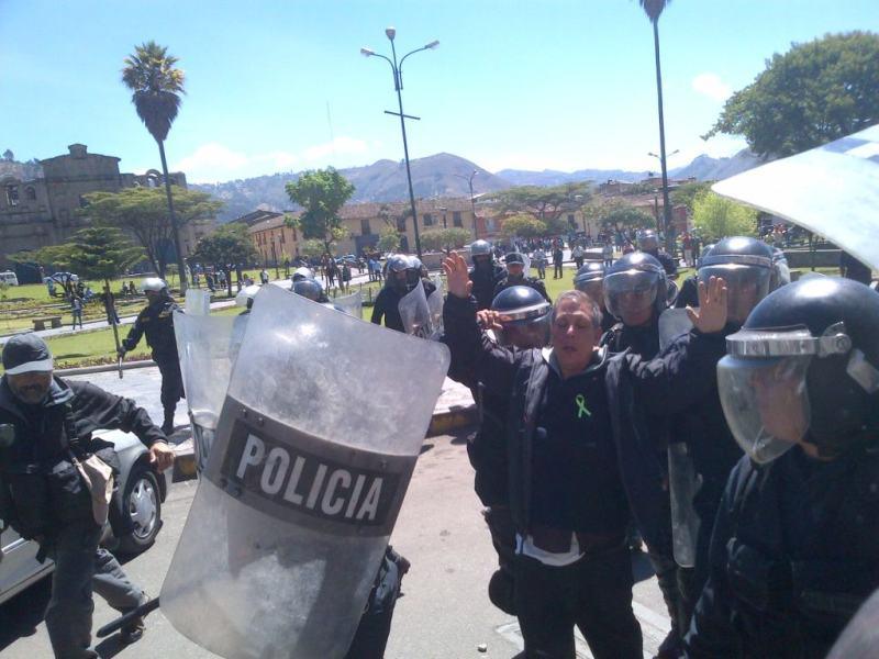 Detención de Marco Arana