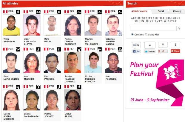 Los atletas que nos representarán en Londres 2012