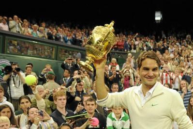Federer celebra su séptimo título en la catedral del tenis WIMBLEDON