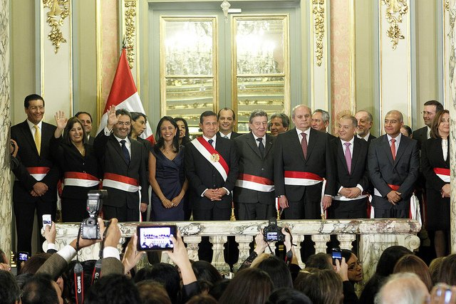 El tercer Gabinete Ministerial de Ollanta Humala en Pleno