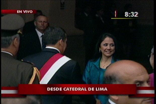Ollanta Humala llega a la Catedral