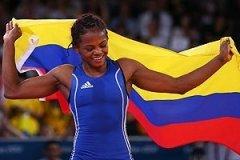 Jackeline Rentería logró en lucha libre la sexta medalla para Colombia