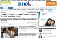 Publicación de Emol sobre la fabricación de la Inka Kola en Chile