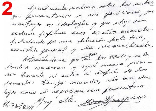 Carta de Elena Iparraguirre (Diario Correo)