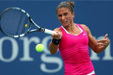 Sara Errani jugará por primera vez una semifinal del Abierto de Estados Unidos al vencer a su compatriota Vinci.