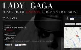 Todo listo para el concierto de Lady Gaga