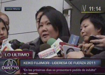 Keiko Fujimori anuncia que pedirán indulto a Ollanta Humala
