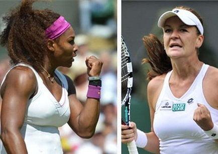 Tanto Serena Williams como Radwanska clasificaron a los octavos de final del Abierto de Estados Unidos 2012.