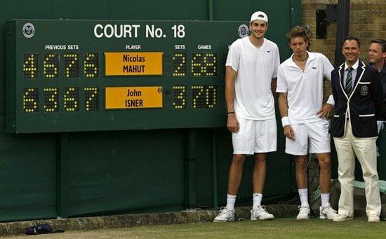 John Isner al igual que en Wimbledon 2010, registró un nuevo record en el Torneo de Shanghái