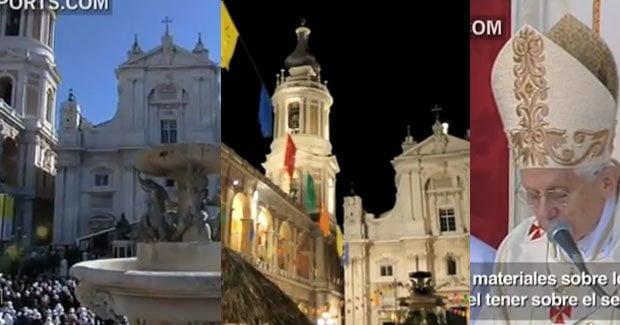 Imágenes de la Plaza de Loreto (Italia)