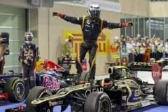 Kimi Raikkonen ganó luego de 3 años un Gran Premio a través de Lotus, escudería que se adjudica a una victoria tras 25 años.