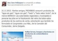 Advertencia de Ana Jara