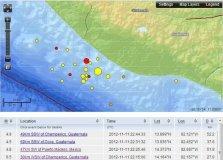 Réplicas registradas hoy por el USGS